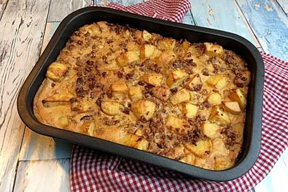 Veganes Kartoffel-Rosenkohl-Gratin (Bild)