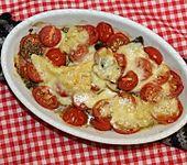 Überbackenes Tomaten-Champignon-Carpaccio (Bild)