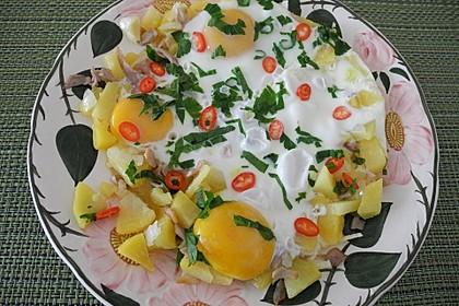 Kartoffel-Eier-Pfanne mit Bärlauch (Bild)