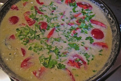 Bandnudeln in Gorgonzola - Soße mit eingelegten Tomaten 12