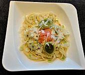 Lachsnudeln mit Parmesan (Bild)