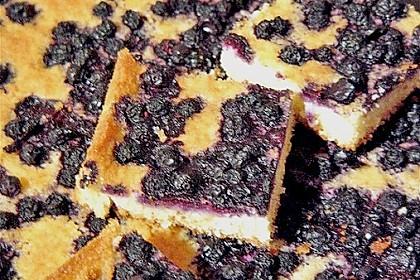 Heidelbeer - Blechkuchen 25