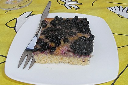 Heidelbeer - Blechkuchen 24