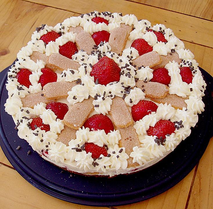 Erdbeer Tiramisu Torte A La Alina Von Alina1st Chefkoch De