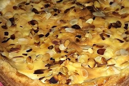 Apfelkuchen mit Sahne - Puddingguss (Bild)