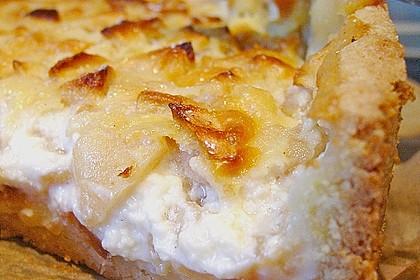 Apfelkuchen mit Sahne - Puddingguss 13