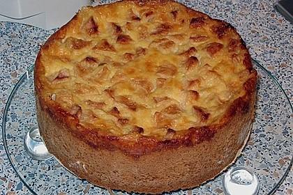 Apfelkuchen mit Sahne - Puddingguss 6