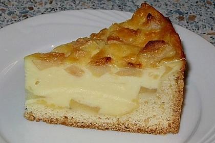 Apfelkuchen mit Sahne - Puddingguss 5