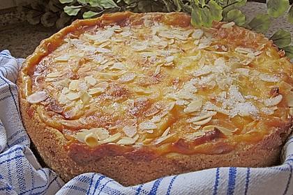 Apfelkuchen mit Sahne - Puddingguss 3
