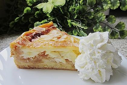 Apfelkuchen mit Sahne - Puddingguss 2