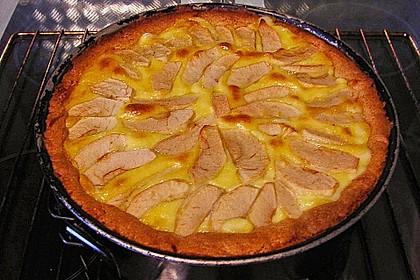 Apfelkuchen mit Sahne - Puddingguss 12