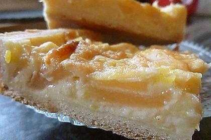 Apfelkuchen mit Sahne - Puddingguss 11