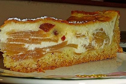 Apfelkuchen mit Sahne - Puddingguss 4