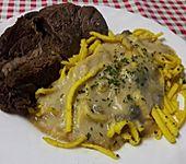 Rindfleisch mit Meerrettich-Weinsauce (Bild)