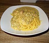 Spaghetti mit Erbsensauce à la Didi (Bild)