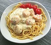 Nudeln mit Shrimps (Bild)