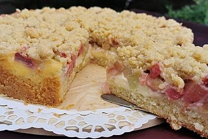 Rhabarber Streuselkuchen (Bild)