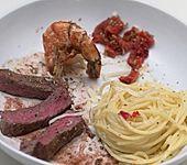Rasen und Brandung, dazu Spaghetti aglio e olio (Bild)