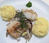 Loins vom Kabeljau mit geschmortem Fenchel und Kartoffelstampf (Bild)