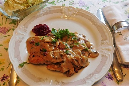 Putenschnitzel Jägerart (Bild)