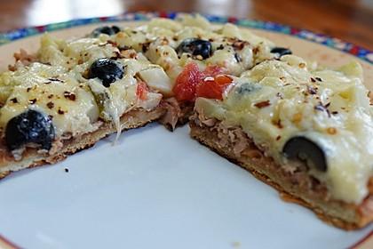 Saftig-würzige Pfannenpizza (Bild)