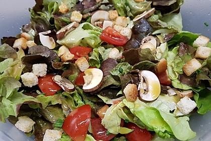 Eichblattsalat mit Champignons (Bild)