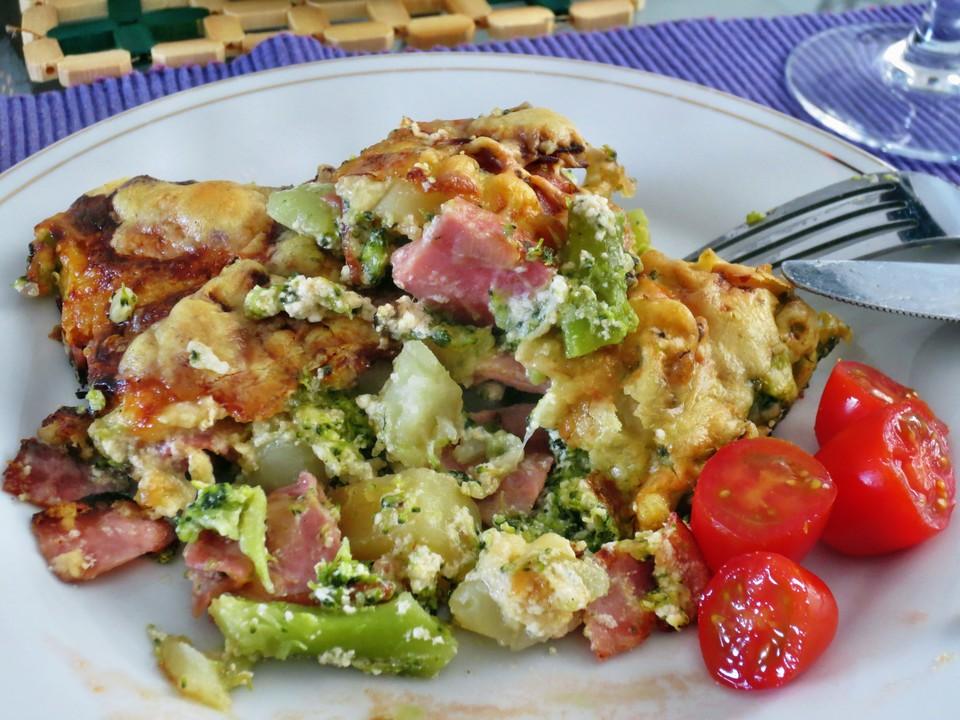 Blumenkohl - Brokkoli - Kartoffelauflauf