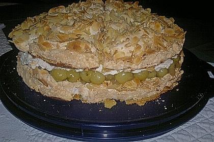 Stachelbeer - Sahne - Baiser - Torte 2