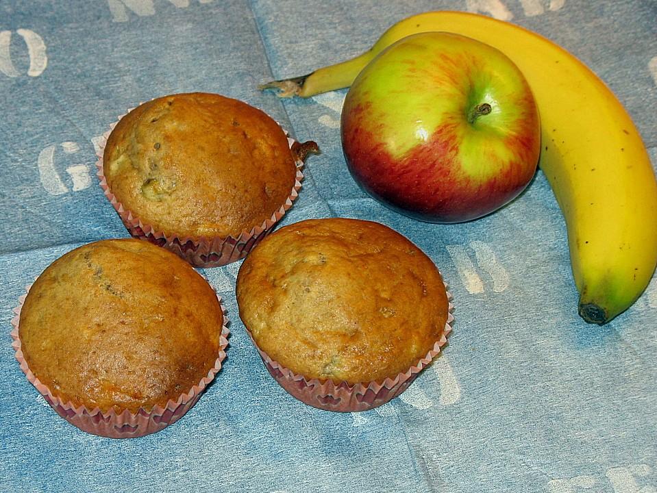 Bananen Apfel Muffins Von Bezwinger Chefkoch De
