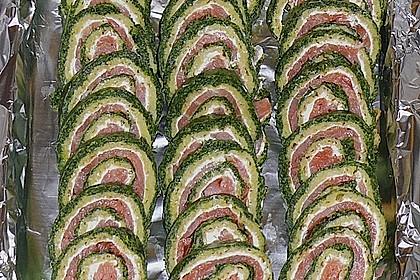 Lachsrolle mit Spinat und Frischkäse 8