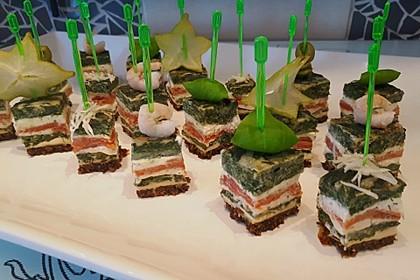 Lachsrolle mit Spinat und Frischkäse 20