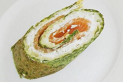 Lachsrolle mit Spinat und Frischkäse 149