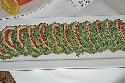 Lachsrolle mit Spinat und Frischkäse 34