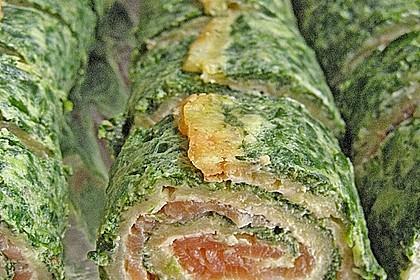Lachsrolle mit Spinat und Frischkäse 54