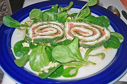Lachsrolle mit Spinat und Frischkäse 139