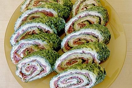 Lachsrolle mit Spinat und Frischkäse 119