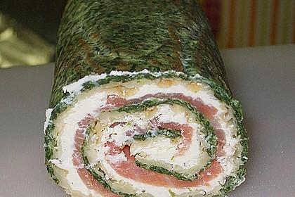 Lachsrolle mit Spinat und Frischkäse 29