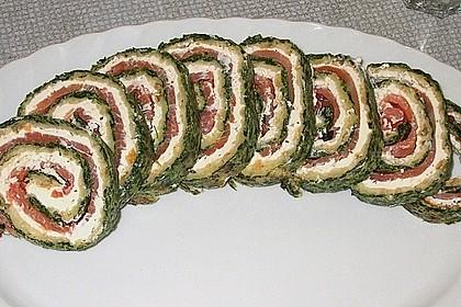 Lachsrolle mit Spinat und Frischkäse 27