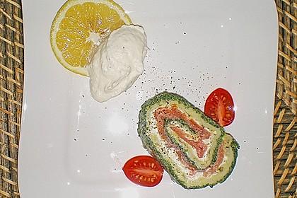 Lachsrolle mit Spinat und Frischkäse 87