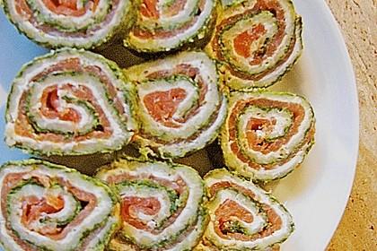 Lachsrolle mit Spinat und Frischkäse 86