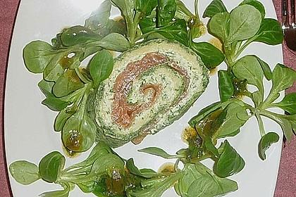 Lachsrolle mit Spinat und Frischkäse (Bild)