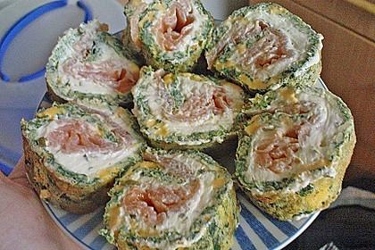 Lachsrolle mit Spinat und Frischkäse 153