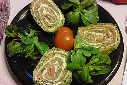 Lachsrolle mit Spinat und Frischkäse 31