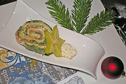 Lachsrolle mit Spinat und Frischkäse 43