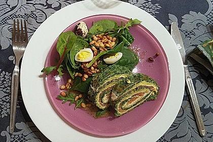 Lachsrolle mit Spinat und Frischkäse 77