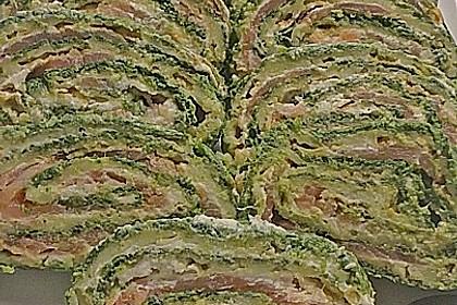 Lachsrolle mit Spinat und Frischkäse 109