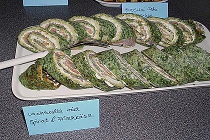 Lachsrolle mit Spinat und Frischkäse 73