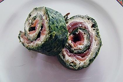 Lachsrolle mit Spinat und Frischkäse 101