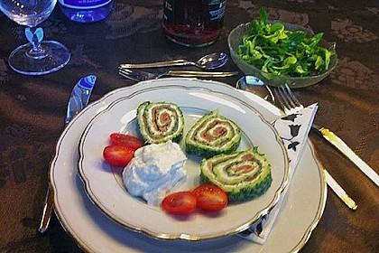 Lachsrolle mit Spinat und Frischkäse 133