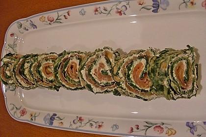 Lachsrolle mit Spinat und Frischkäse 142